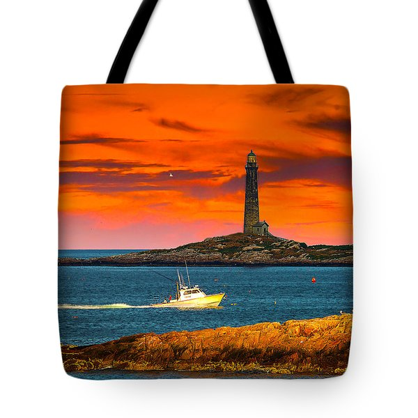 Lobster Boat Cape Cod Tote Bag