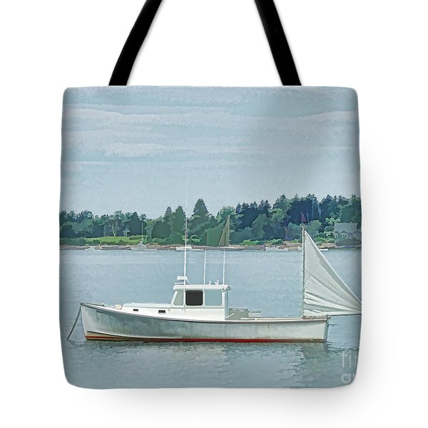 Lobster Boat Harpswell Maine Tote Bag