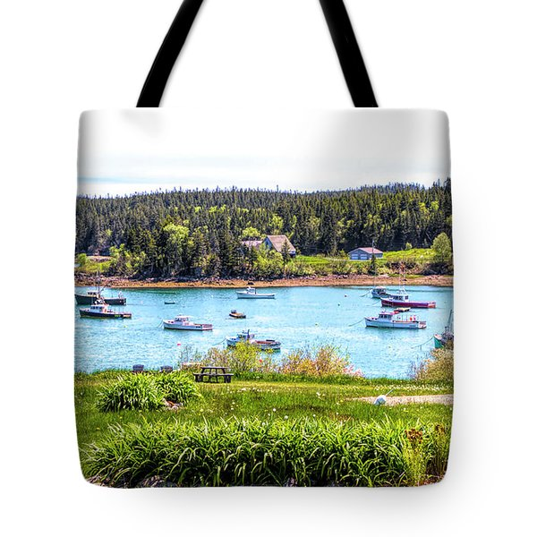Tote Bag featuring the photograph Lobster Boats  by Betty Pauwels