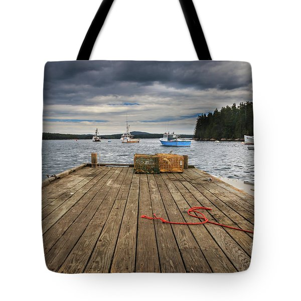 Lobster Boats Of Winter Harbor Tote Bag