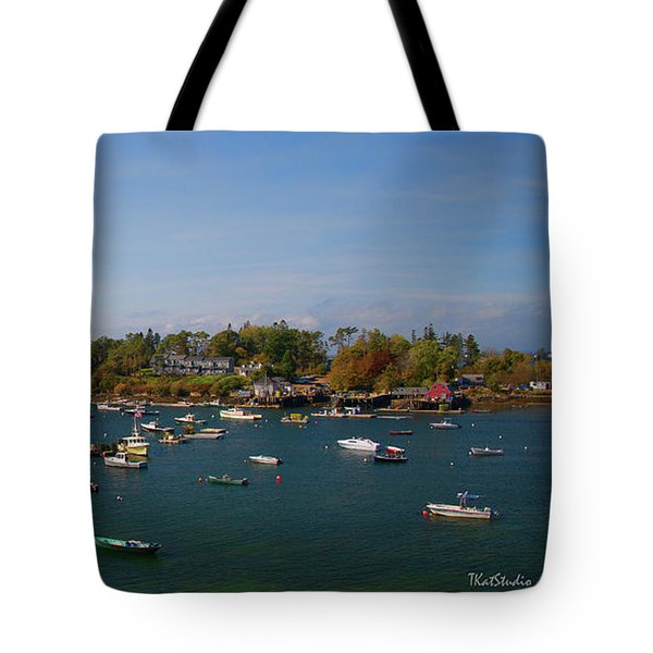 Lobster Boats On The Coast Of Maine Tote Bag