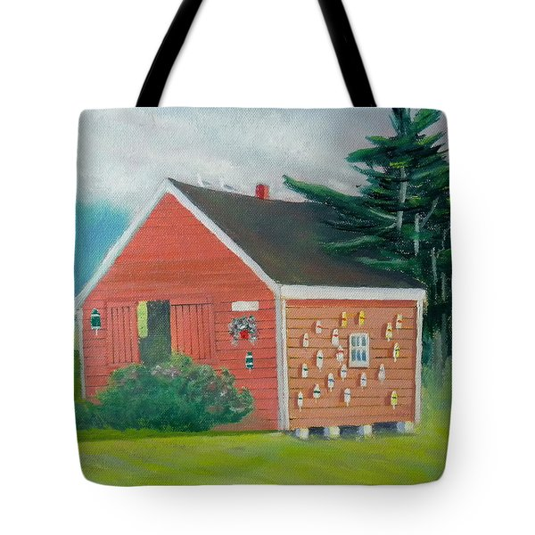 Lobster Buoy Shack Tote Bag