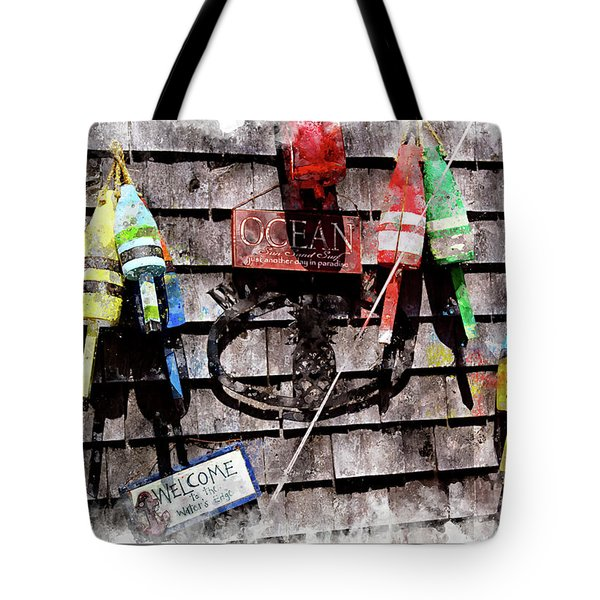 Lobster Buoys Wc Tote Bag by Peter J Sucy