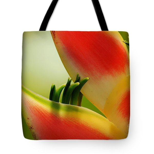 Lobster Claw Flower Tote Bag