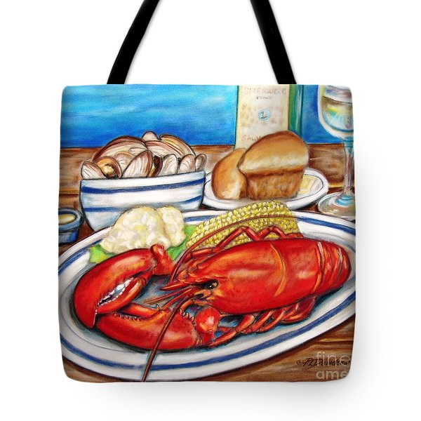 Lobster Dinner Tote Bag