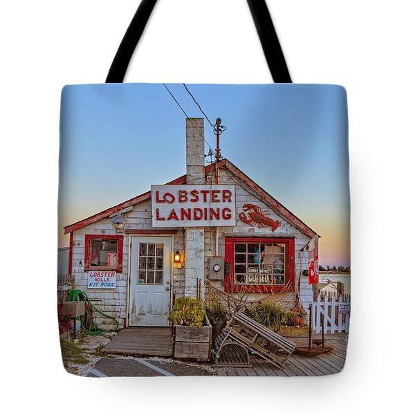 Lobster Landing Sunset Tote Bag