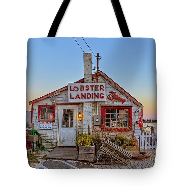 Lobster Landing Sunset Tote Bag by Edward Fielding