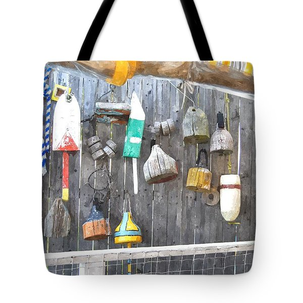 Lobster Markers Lmwc Tote Bag by Jim Brage
