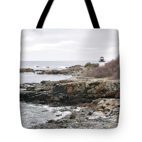 Lobster Point Lighthouse - Ogunquit Maine Tote Bag
