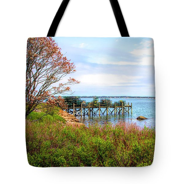Tote Bag featuring the photograph Lobster Traps by Betty Pauwels