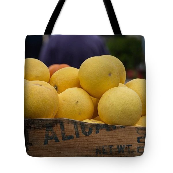 Local Fresh Grapefruit Tote Bag