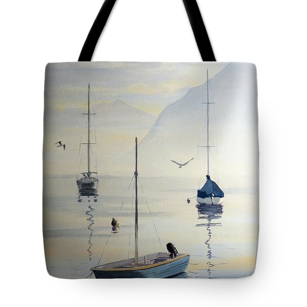 Locarno Boats In February Tote Bag