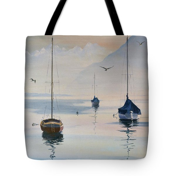 Locarno Boats In February-2 Tote Bag