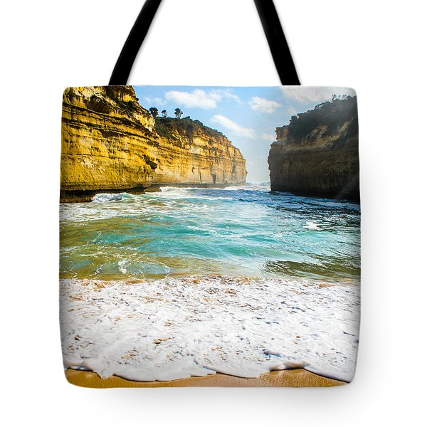 Loch Ard Gorge Tote Bag by Max Serjeant