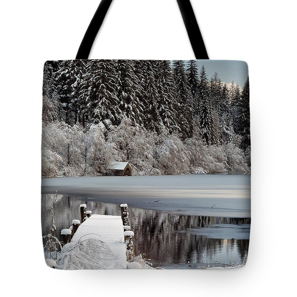 Loch Ard Winter View Tote Bag by Grant Glendinning