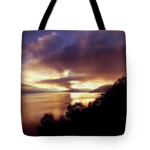 Loch Ness Winter Sunset Tote Bag