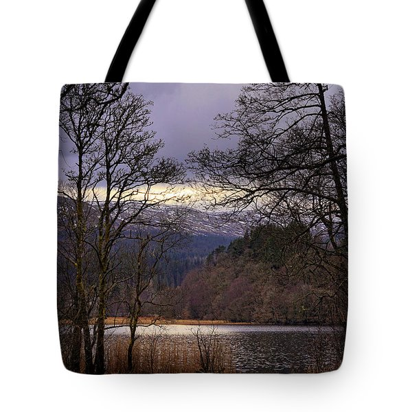 Tote Bag featuring the photograph Loch Venachar by Jeremy Lavender Photography