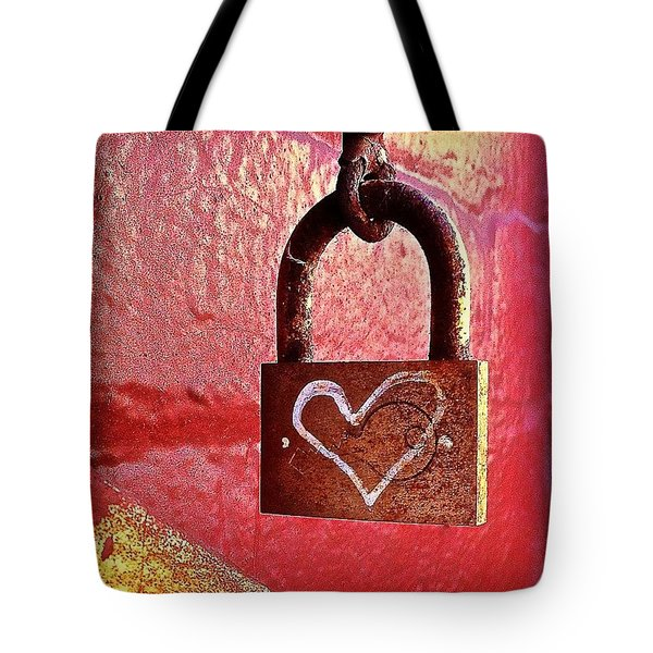 Lock/heart Tote Bag
