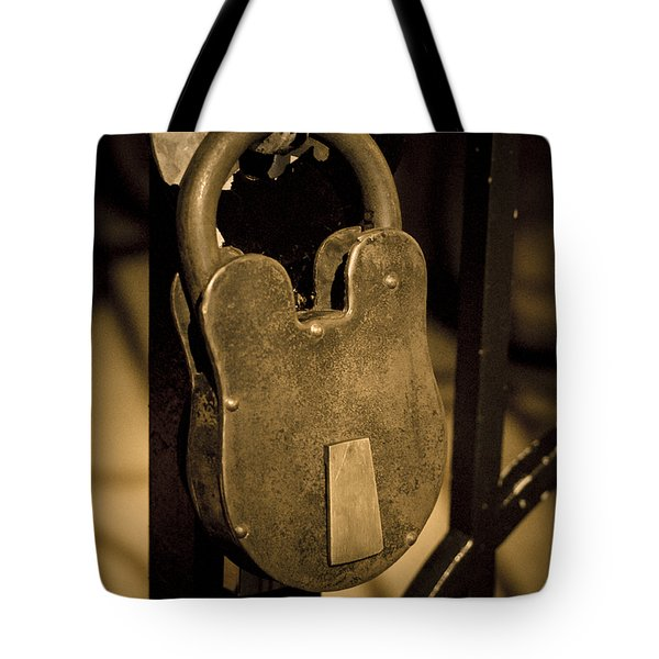 Tote Bag featuring the photograph Locked Away by Christi Kraft