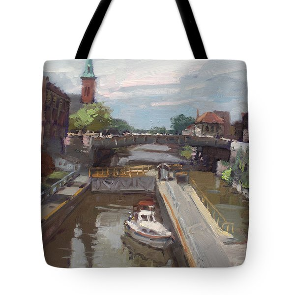 Lockport Locks Tote Bag