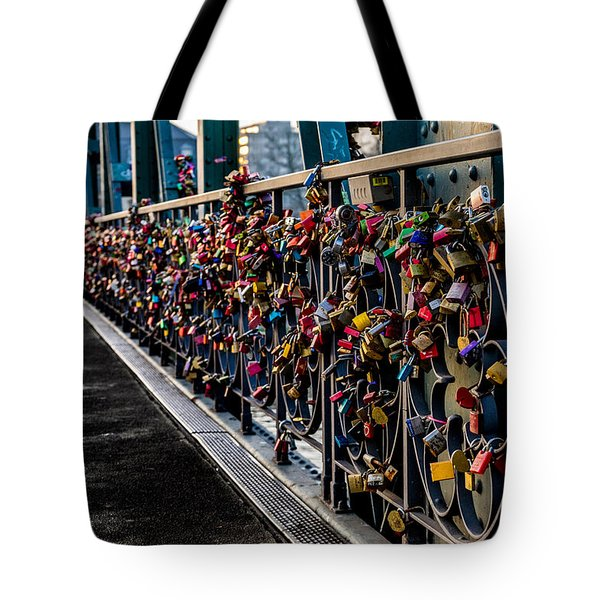 Locks Of Lock Bridge Tote Bag