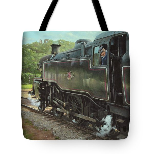Locomotive At Swanage Railway Tote Bag