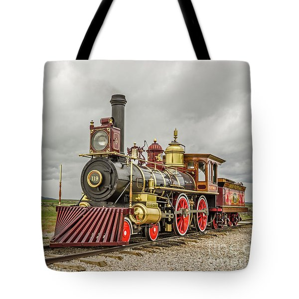 Tote Bag featuring the photograph Locomotive No. 119 by Sue Smith