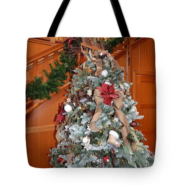 Lodge Lobby Tree Tote Bag