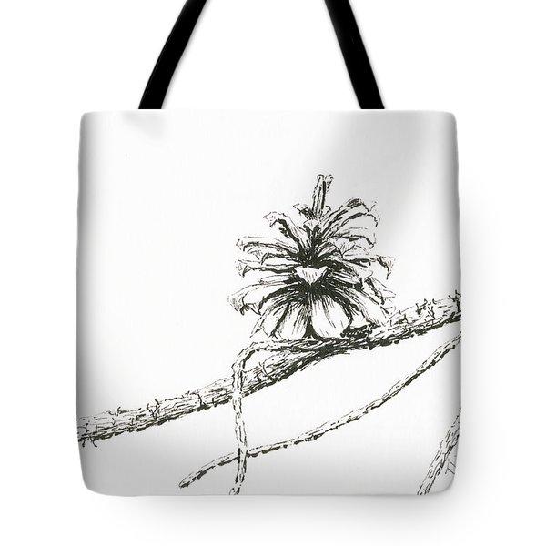 Lodgepole Pine Cone Tote Bag