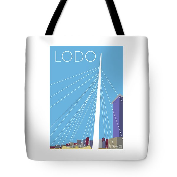 Tote Bag featuring the digital art Lodo/blue by Sam Brennan