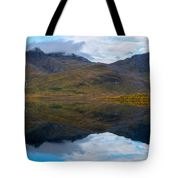 Tote Bag featuring the photograph Lofoten Lake by James Billings