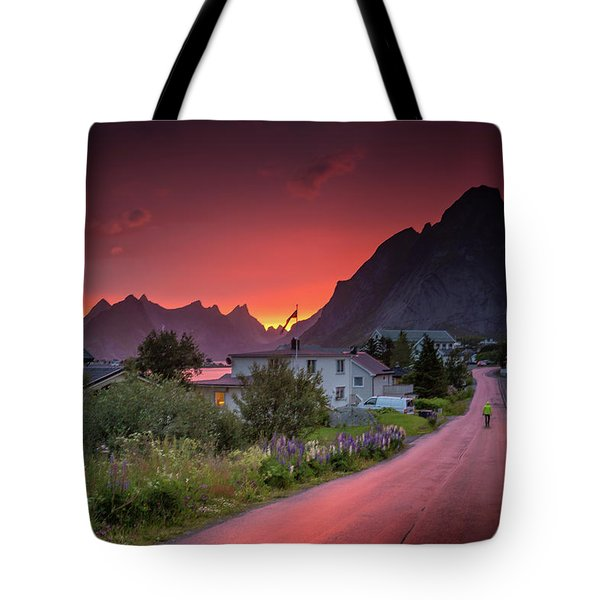 Lofoten Nightlife  Tote Bag