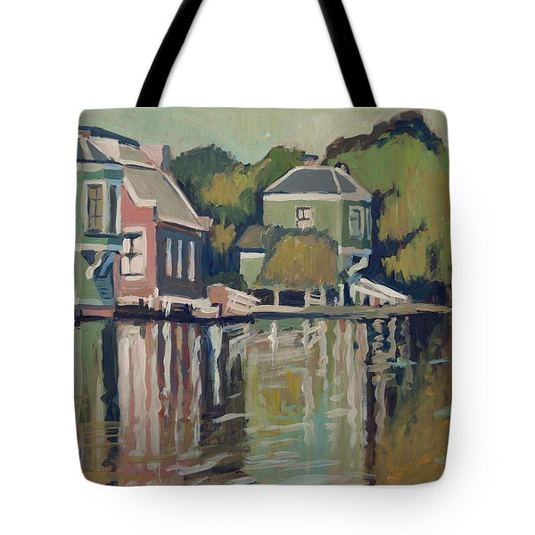 Lofts Along The River Zaan In Zaandam Tote Bag
