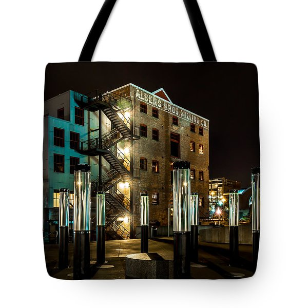 Lofts Overlooking Water Forest Tote Bag