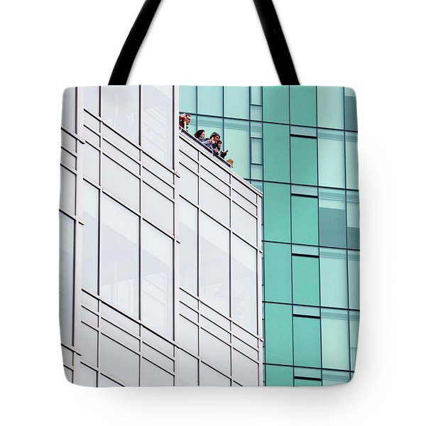 Tote Bag featuring the photograph Lofty View by Chris Dutton