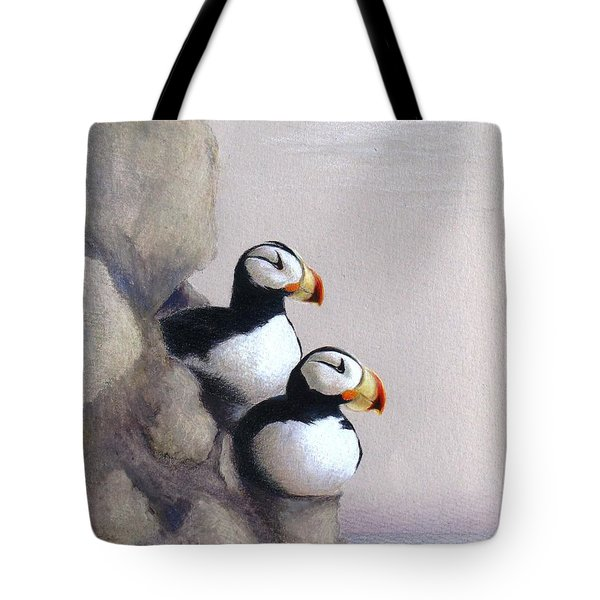 Tote Bag featuring the drawing Lofty View by Phyllis Howard