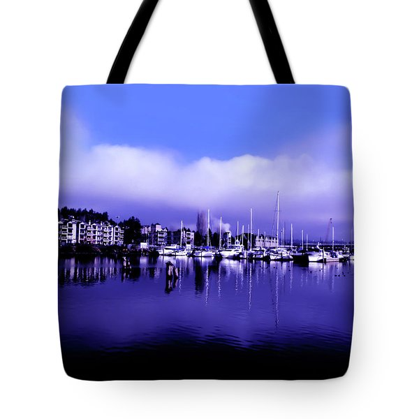 Tote Bag featuring the photograph Log Boom Park At Kenmore Washington by Eddie Eastwood