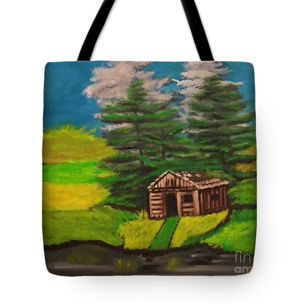 Log Cabin Tote Bag by Brindha Naveen
