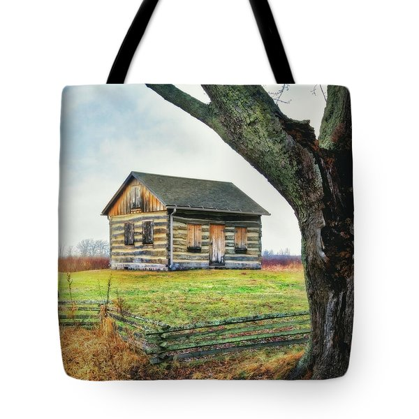 Tote Bag featuring the photograph Log Cabin - Paradise Springs - Kettle Moraine State Forest by Jennifer Rondinelli Reilly - Fine Art Photography