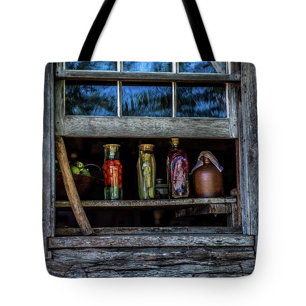 Tote Bag featuring the photograph Log Cabin Window by Paul Freidlund