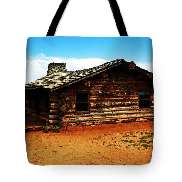 Tote Bag featuring the photograph Log Cabin Yr 1800 by Joseph Frank Baraba