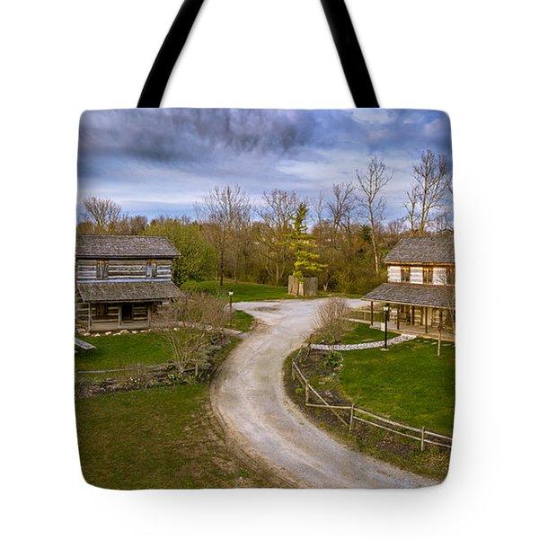 Log Cabins Tote Bag