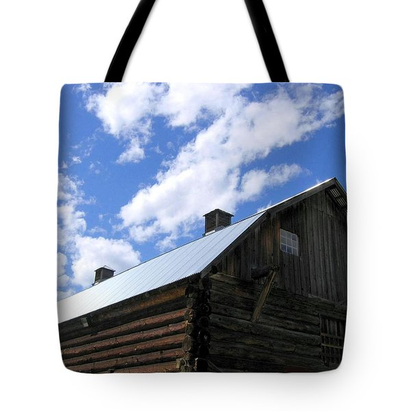 Log Clydesdale Barn Tote Bag by Will Borden