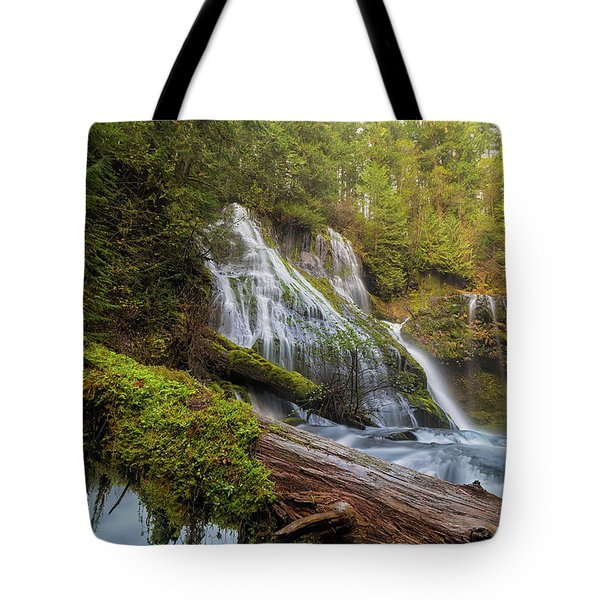 Log Jam By Panther Creek Falls Tote Bag