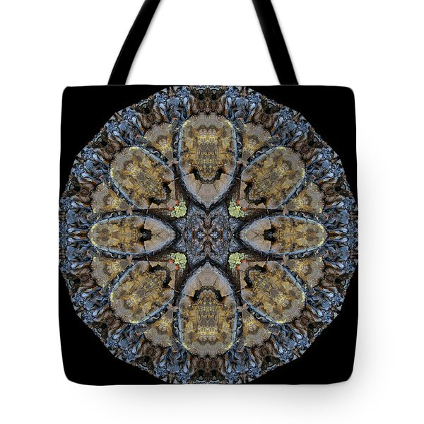 Log Priests Gathered Around Ghostly Face Tote Bag