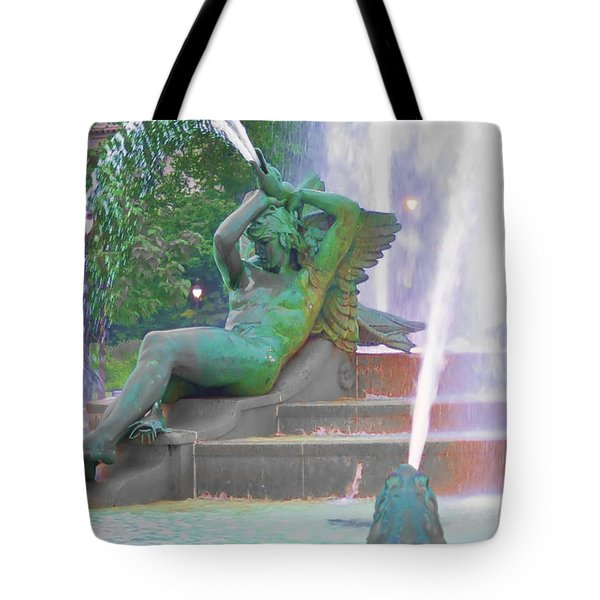 Logan Circle Fountain 4 Tote Bag by Bill Cannon
