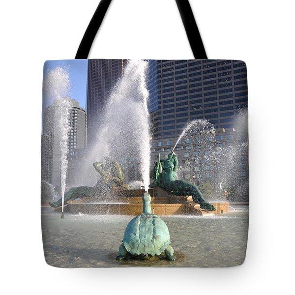 Logan Circle Fountain Tote Bag by Bill Cannon
