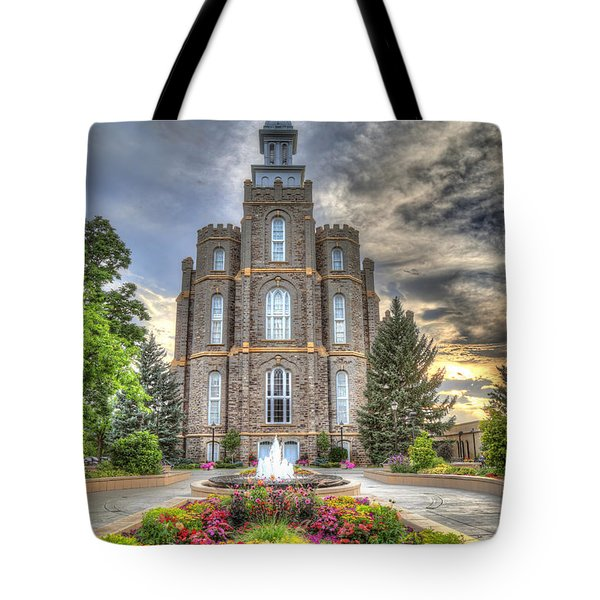 Logan L D S Temple 2 Tote Bag