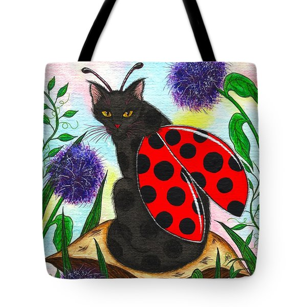 Logan Ladybug Fairy Cat Tote Bag