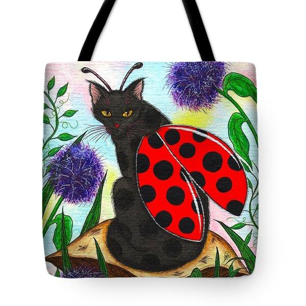 Logan Ladybug Fairy Cat Tote Bag